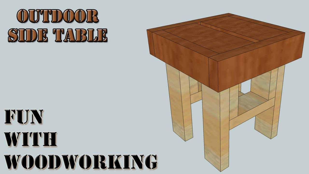 Project How To Make An Easy Outdoor Side End Table Out Of 2x4 S And 2x6 S