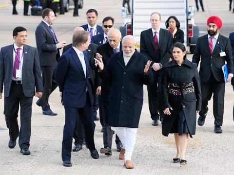 Red Carpet Welcome For Narendra Modi In U.K
