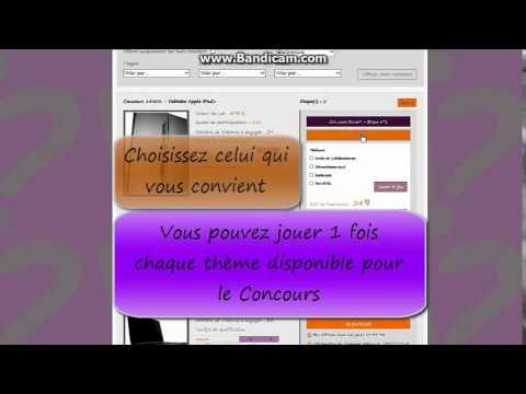 Concourir sur www.vream.fr