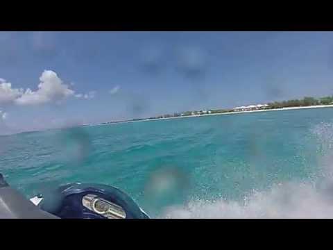 Jet Ski Action off Seven Mile Beach Grand Cayman