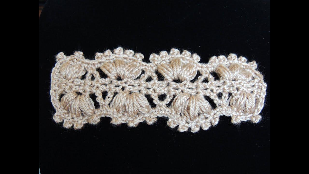 Crochet : Punto Cintillo (o Cinturón) - YouTube