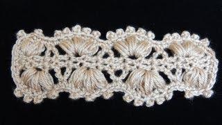 Repeat youtube video Crochet : Punto Cintillo (o Cinturón)