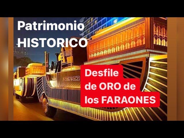 Espectacular desfile de ORO 🔶 faraones en Egipto 🔶