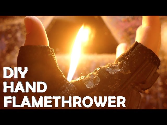Make a Wrist Flamethrower With Only a Lighter! - AMAZING DIY