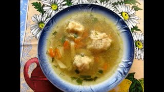 Обалденный суп с рыбными фрикадельками .