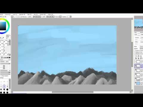 Speedpainting – Landscape (Paint Tool Sai)