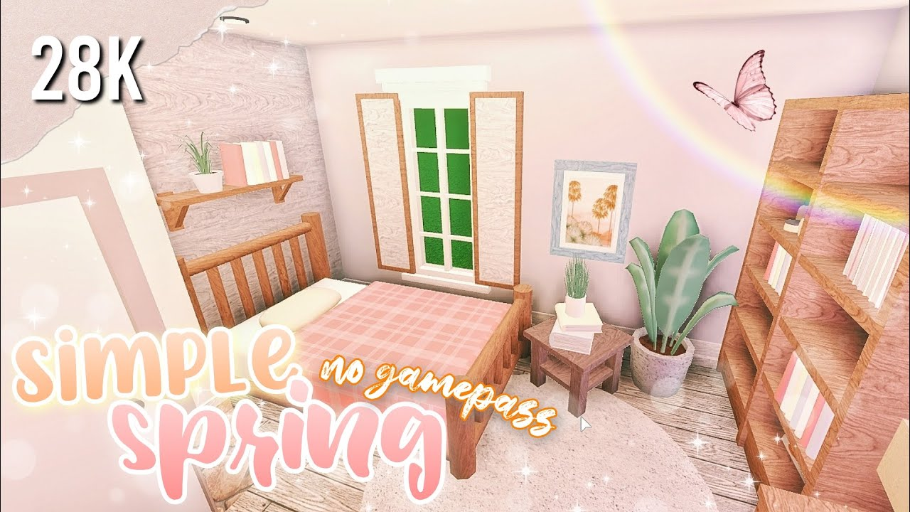 Bloxburg Simple Spring Home No Gamepass Roblox Speedbuild Youtube