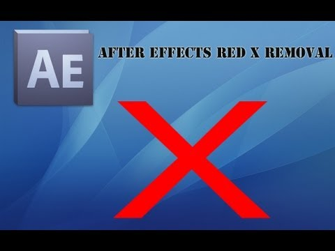 How to Remove Red X on After Effects Plugins (Tutorial)