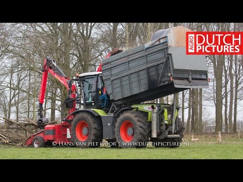 Special Claas Xerion 3800 woodchipper | Veluwe Groen | Hout versnipperen | Ufkes | Forestry