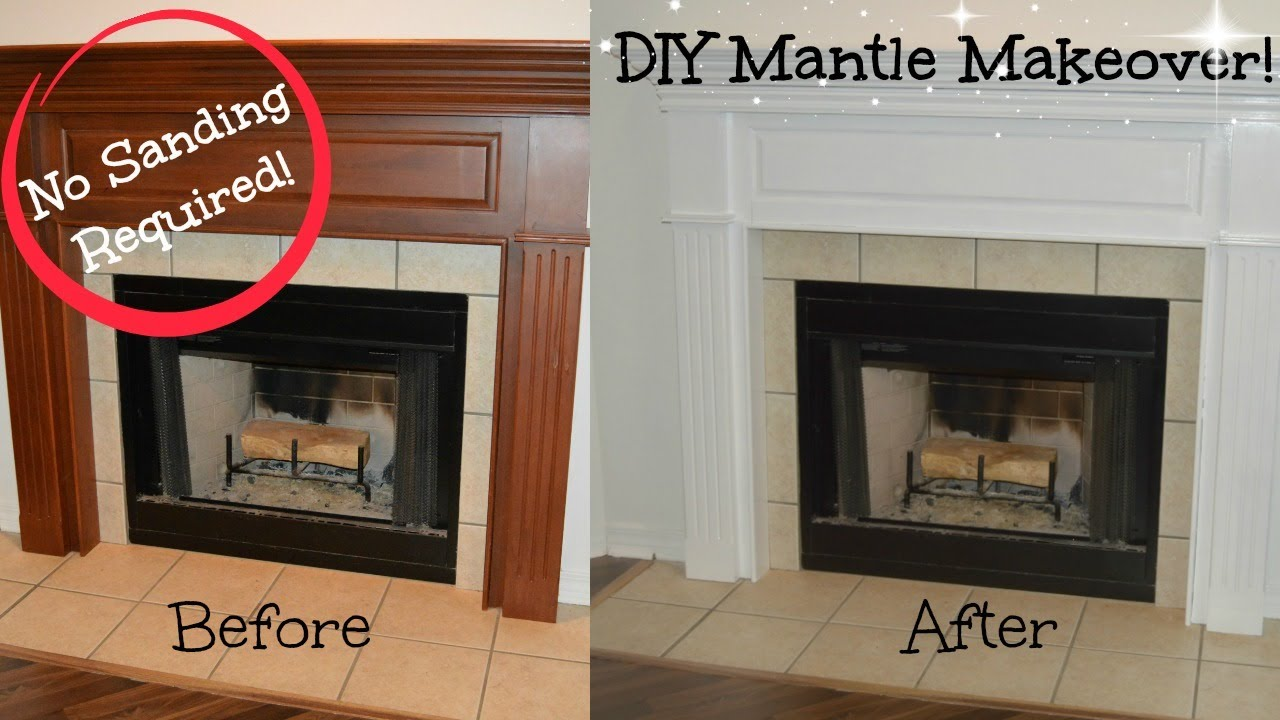 Diy Mantle Makeover No Sanding Required