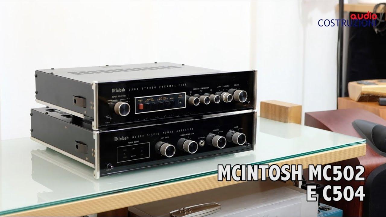 mcintosh mc502 e c504 ampli e pre youtube