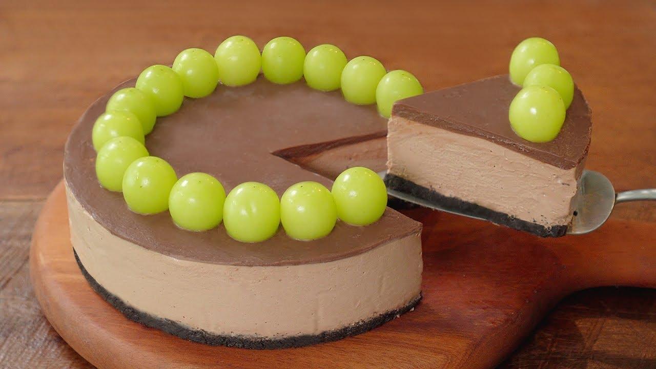 [노오븐] 초콜릿 치즈 케이크 만들기 :: 진하고 부드러운 최강 디저트 :: No Bake Chocolate Cheesecake Recipe
