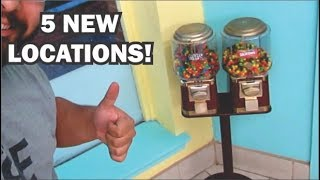 Got 5 new locations for my candy vending  machine business