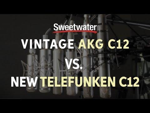Vintage AKG C12 vs. New Telefunken C12 Mic Comparison