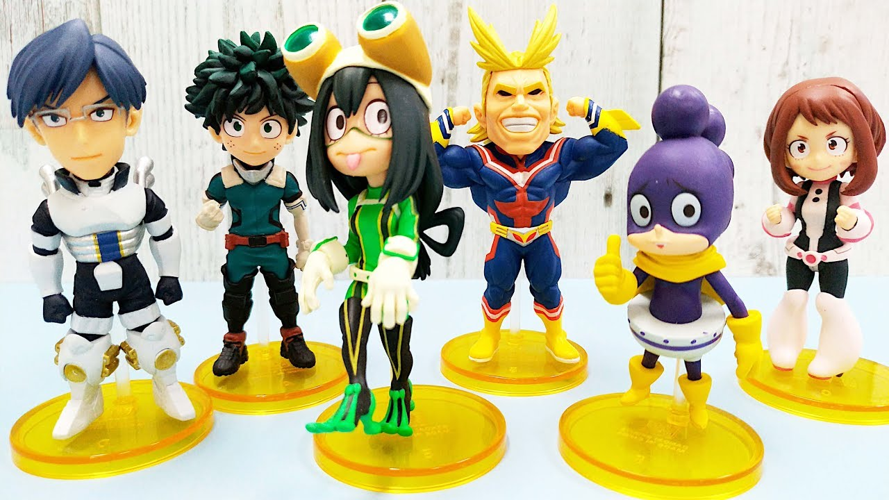 My Hero Academia World Collectable Figure 1 Izuku All-Might Ochako Official