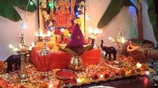 Dussehra 2013 Pooja at Home - Video 1
