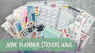 june planner supplies haul! • scribble prints co, virgo & paper, avalon & ninth, and more!