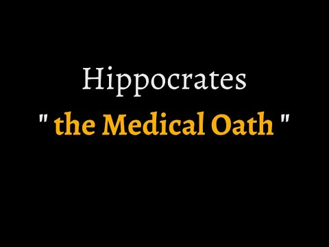 Hippocratic Oath (reconstructed ancient Greek pronunciation)