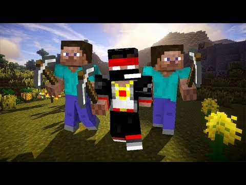 Minecraft - Самый Большой ФлешМоб Шахтёров! [LaGGeRCraft]