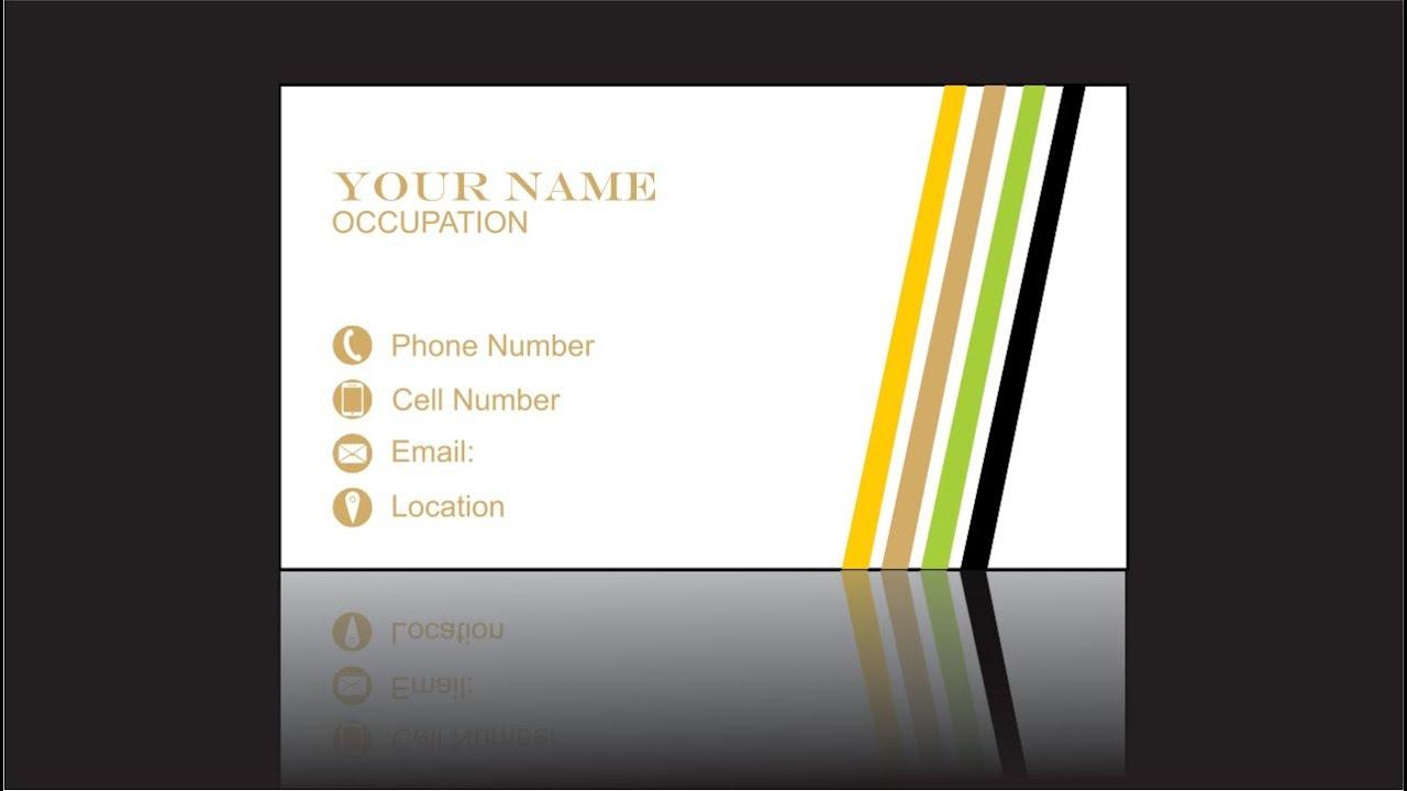 CorelDRAW Tutorial - business card design - YouTube