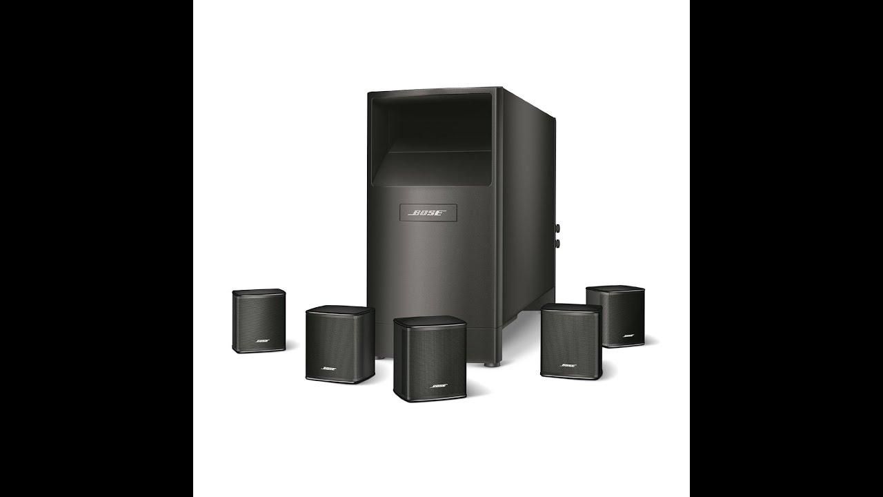 Bose Acoustimass 6 Series V Home Theater Speaker System - YouTube