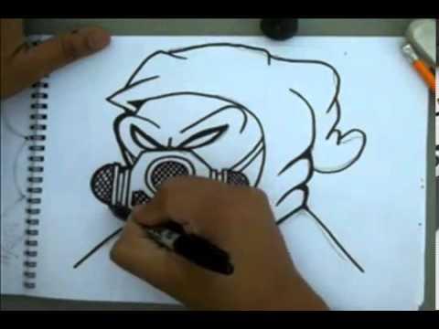 Como Dibujar Un Personaje De Graffiti Con Una Mascara De Gas Youtube