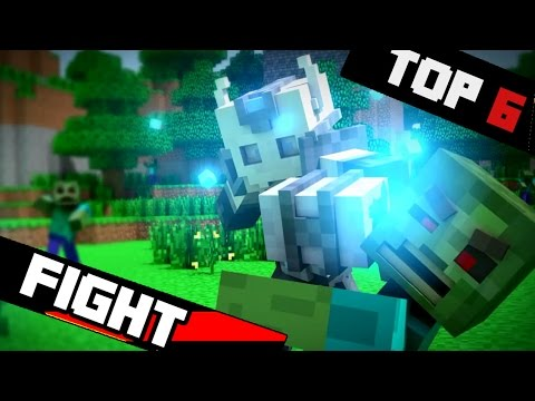 Top 6 Epic Fighting Minecraft Animations - 2016