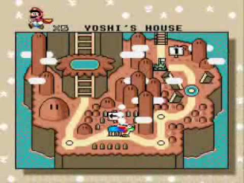 Super Mario World SNES - Complete map - YouTube