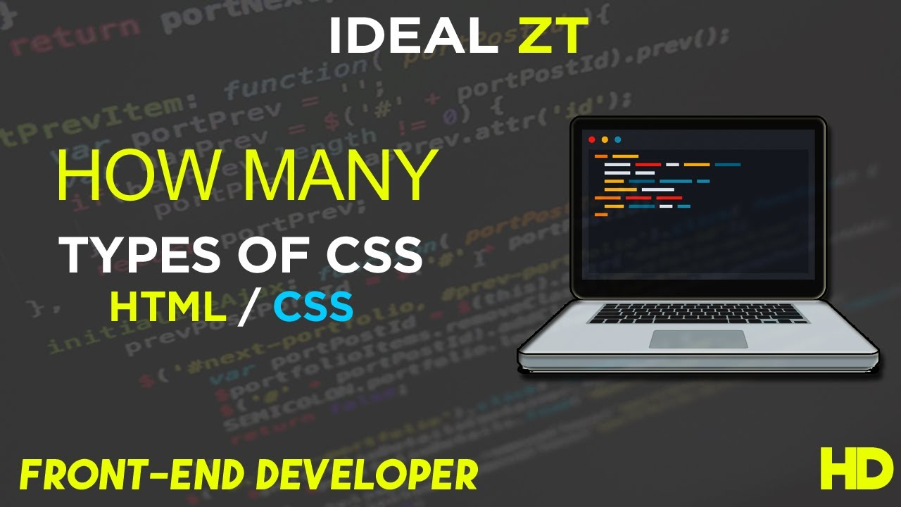 How many types of CSS - Learn CSS StyleSheet - HTML/CSS - Front-End Developer - Urdu/Hindi
