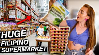 Unboxing FILIPINO SUPERMARKET Grocery Shop for Quarantine! (This SURPRISED us!)