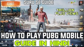 How to play PUBG mobile hindi | PUBG Guide for beginners in Hindi