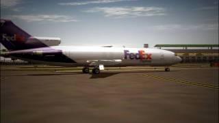 Boeing 727 - Short runway, fast takeoff!!!