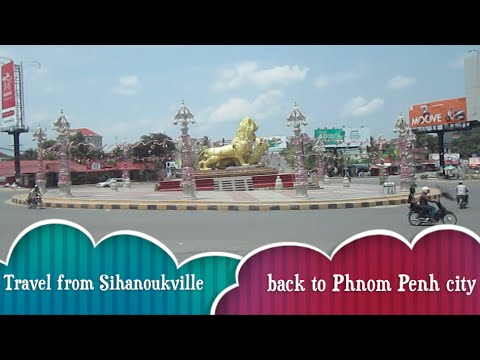 Travel on Bus from Sihanoukville to Phnom Penh city