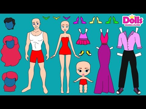 🏠👩👨👶👗👖family-dress-up-father-mother-daughter-clothes-drawing-papercrafts