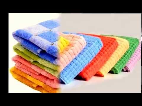 Как легко отстирать кухонные полотенца от жирных пятен .