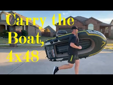 Whos going to carry the boat? David Goggins 4x48 challenge carrying the boat.
