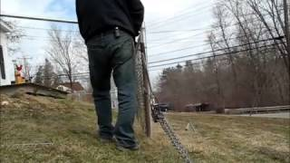Stretching Chain Link Fence