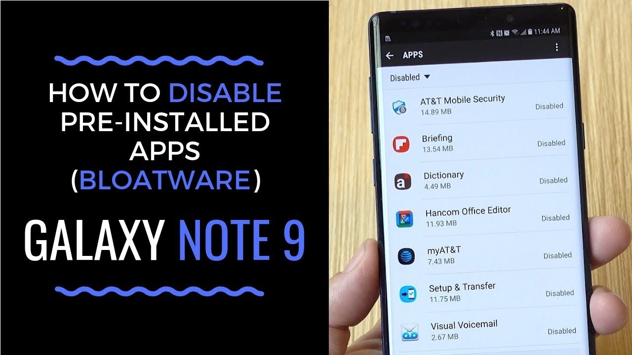 How to Get Rid of Pre-Installed Apps on Galaxy Note 9