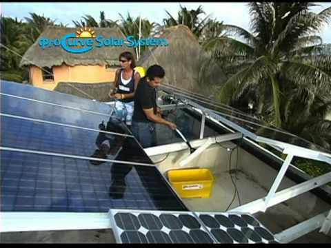 ProCurve Solar System®...a Faster, Safer, Easier way to clean solar panels