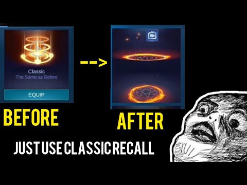 HOW TO CHANGE RECALL EFFECT ? JUST USE A CLASSIC RECALL || PART 1