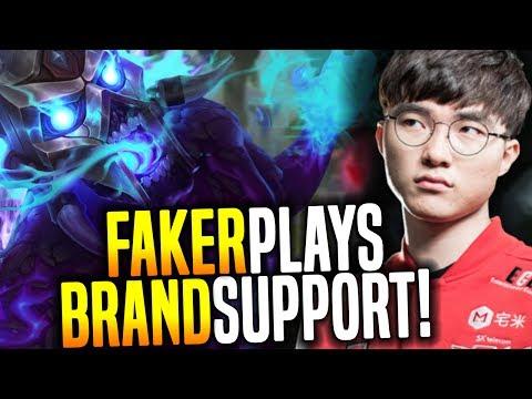 Faker Destroying Playing Support Brand! - SKT T1 Faker SoloQ Playing Brand Support! | SKT T1 Replays