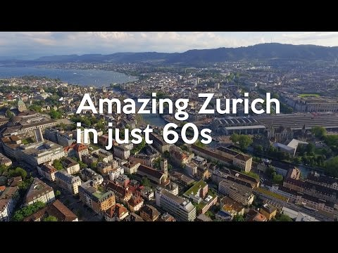 Zurich drone aerial view of university: 60s challenge day 24