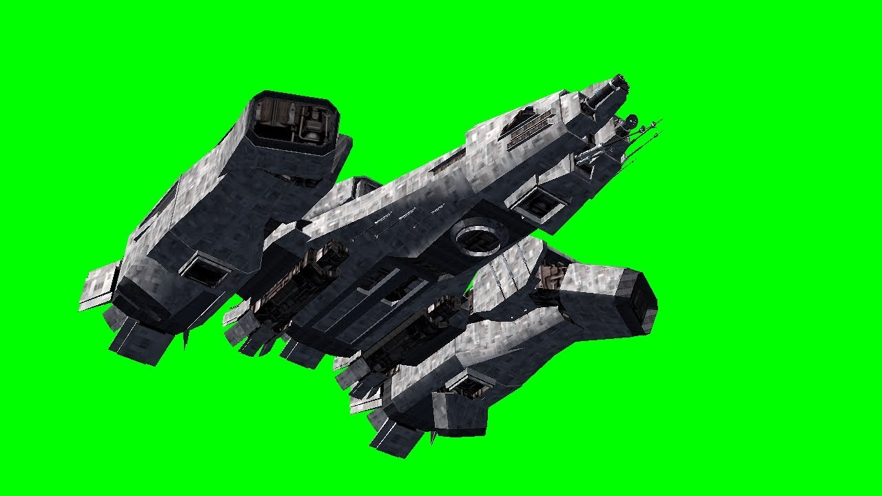 Spaceship FlyBy- Green Screen