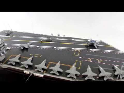 Hand Built Ship, USS Nimitz Aircraft Carrier, Fabrication video