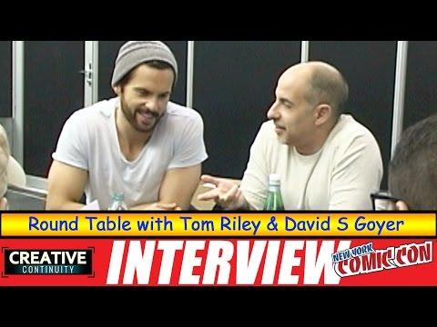 Tom Riley & David S Goyer: Round Table; Starz Da Vinci