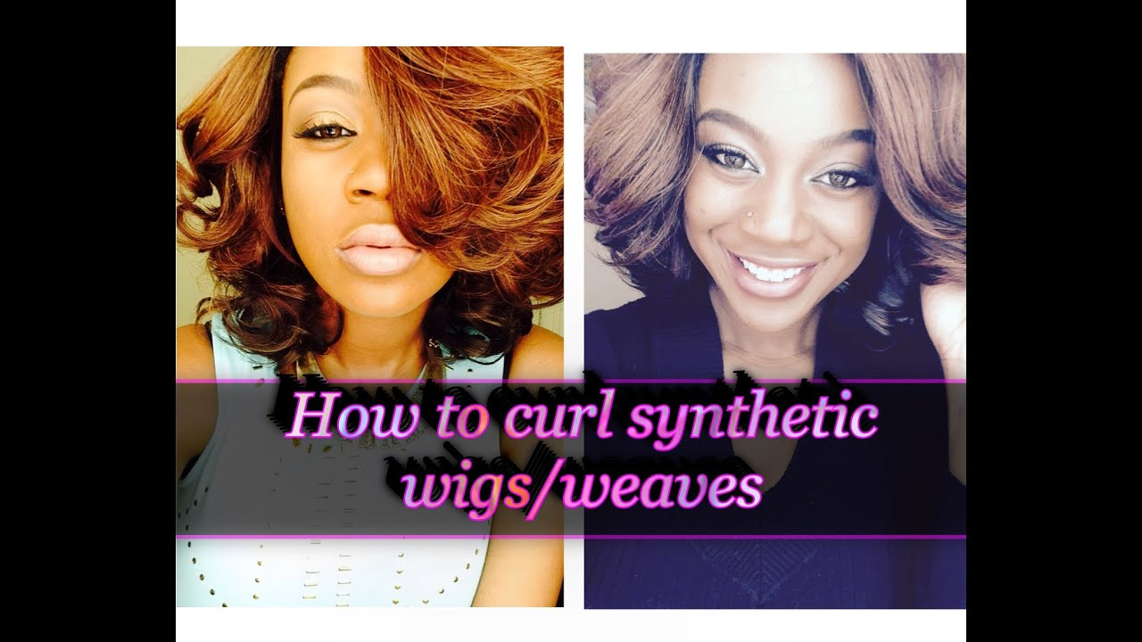 How To Curl Synthetic Wigsweaves Youtube