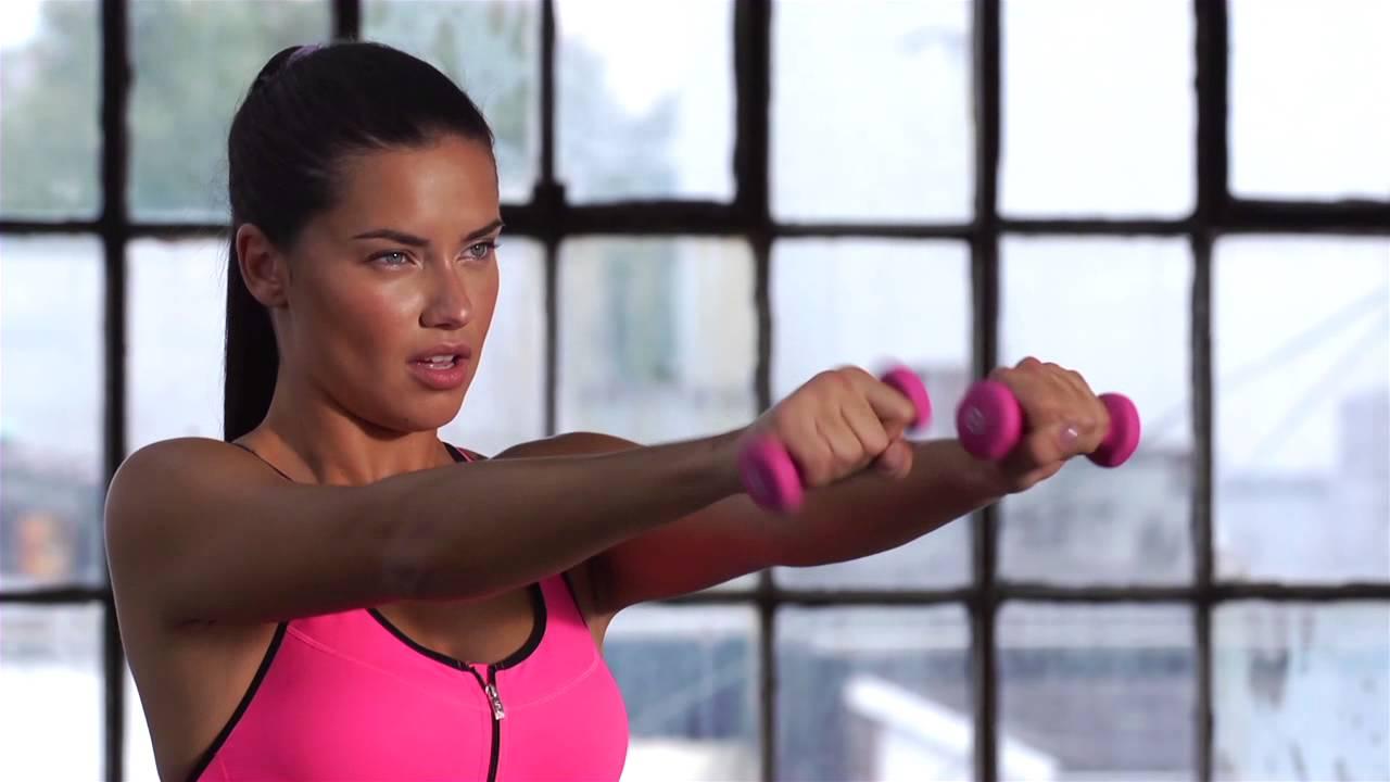 Angel Lima train like an angel 2015: adriana lima arm workout