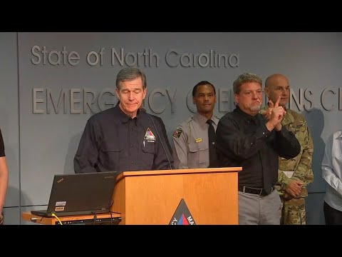 Governor Roy Cooper delivers Hurricane Dorian update as the storm pushes toward North Carolina