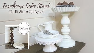 Farmhouse Cake Stand | Thrift Store Up-Cycle Project