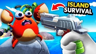 KILLING CARL THE CRAB To Survive On The Island (Island Time VR Funny Gameplay)